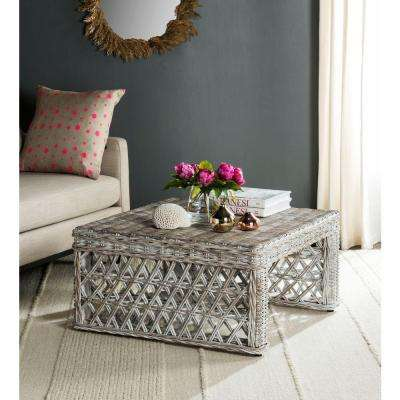 Shila White Washed Coffee Table