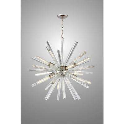 Crystal mid century modern chandeliers lighting the home depot sputnik 9 light polished nickel chandelier aloadofball