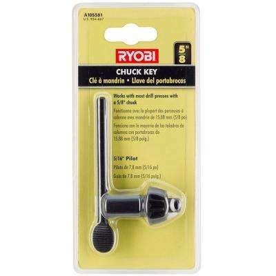 5/8 in. Black Metal Chuck Key with 5/16 in. Pilot