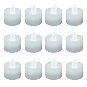 Bright White Non-flickering LED Tealights (Box of 12)