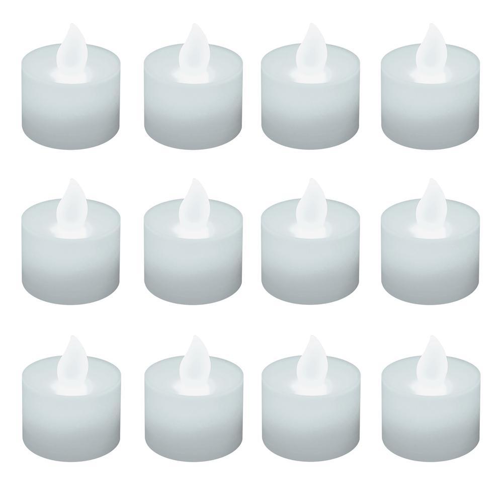Lumabase Bright White Non-flickering LED Tealights (Box of 12) 36612