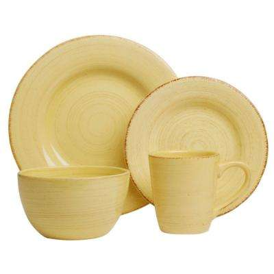 Sonoma 16-Piece Dinnerware Set in Yellow