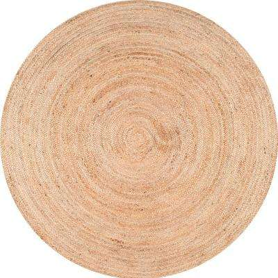 Rigo Natural 6 ft. x 6 ft. Round Area Rug