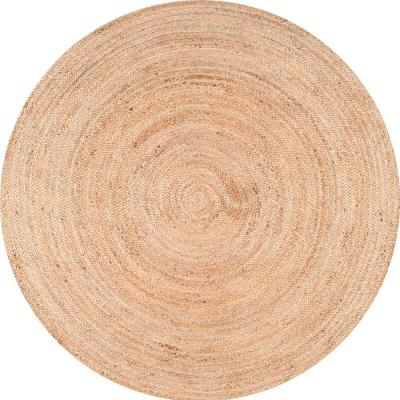 Rigo Chunky Loop Jute Tan 10 ft. Round Rug