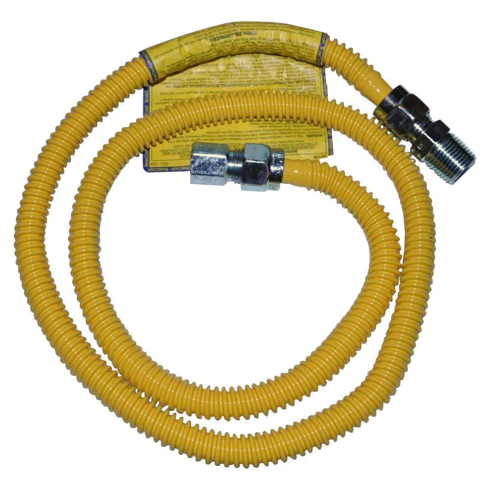 Whirlpool Laundry Gas Pipe Connector The Laundry Gas Pipe Connector is used to hook up your gas dryer. It's a 4 ft. stainless gas dryer connector. Size is 1/2 in. MIP x 1/2 in. MIP, 48 in. (1/2 in. OD and 3/8 in. ID).