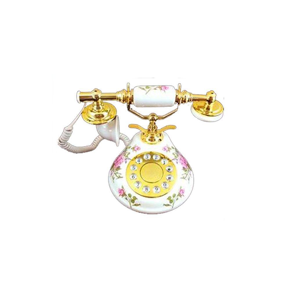 Golden Eagle Porcelain Corded Phone - Pink