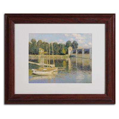 11 in. x 14 in. Bridge at Argenteuil Matted Brown Framed Wall Art