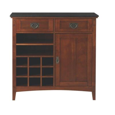 Home Decorators Collection Artisan 36 in. W 2-Drawer Bar Cabinet