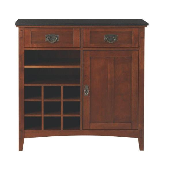 Home Decorators Collection Artisan 36 in. W 2-Drawer Bar Cabinet in
