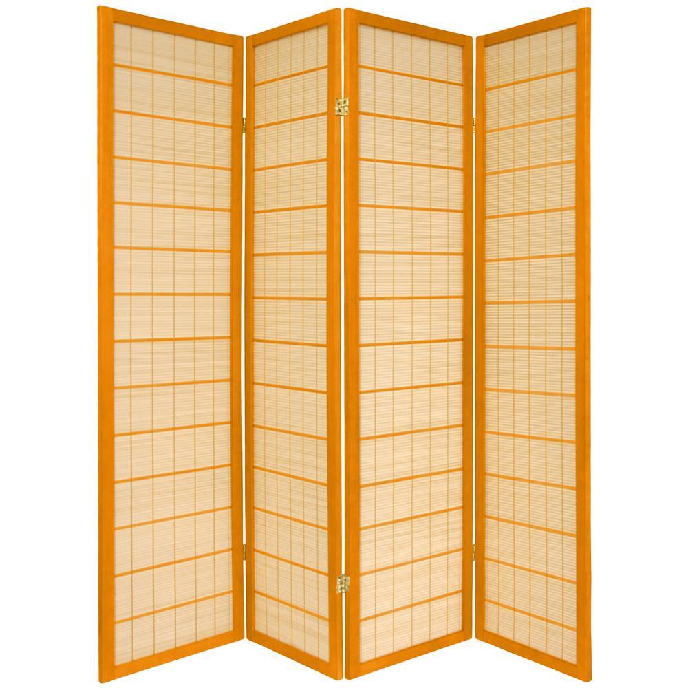 6 ft. Honey 4-Panel Room Divider