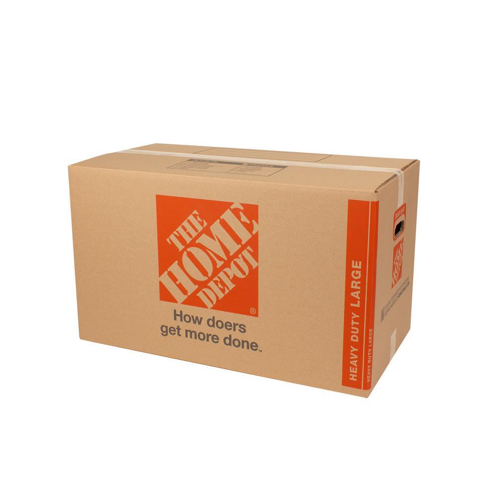 28 in. L x 15 in. W x 16 in. D Heavy-Duty Large Moving Box with Handles