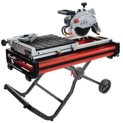 7 in. 13 Amp/115-Volt Wet Tile Saw Kit with Gravity Folding Stand