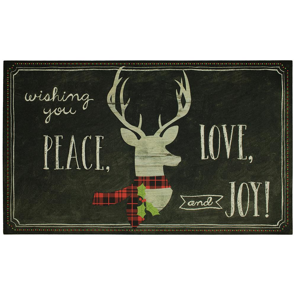 Home Accents Holiday Elegant Entry Tis The Season Deer 18 In. X 30 In.