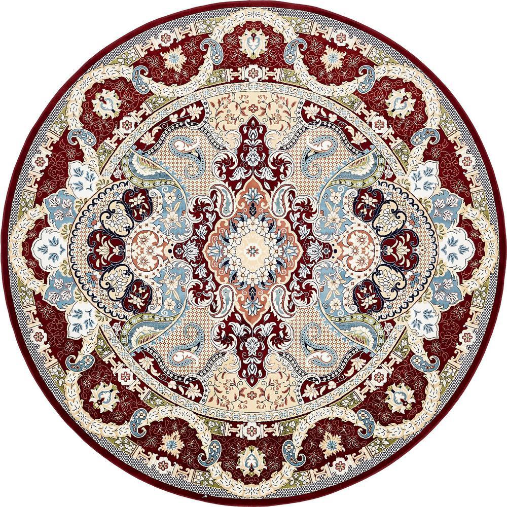 Unique Loom Narenj Burgundy 10 X 10 Round Rug 3137069