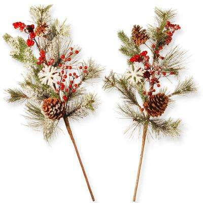 26 in. Holiday Branch Spray Set