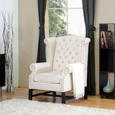 Sussex Beige Fabric Upholstered Accent Chair