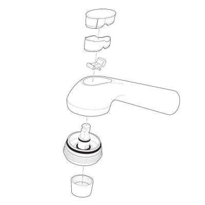 Gourmet Pull-Out Kitchen Faucet Spray Assembly in White