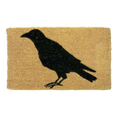 Black Crow 18 in. x 30 in. Coir Mat