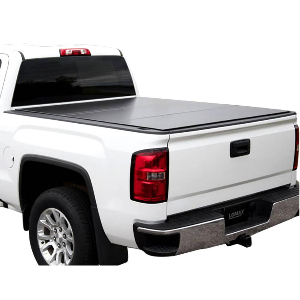 Tundra Bed Cover >> Lomax Tri Fold Cover 07 17 Toyota Tundra 6ft 6in Bed W O Deck