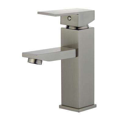 Granada Single Hole Single-Handle Bathroom Faucet with Overflow Drain in Brushed Nickel