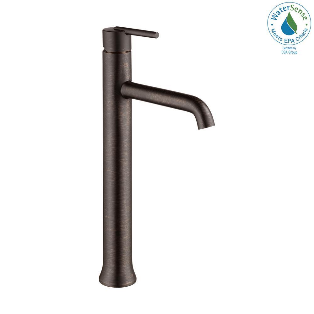 Trinsic Single Hole Single-Handle Vessel Bathroom Faucet in Venetian Bronze