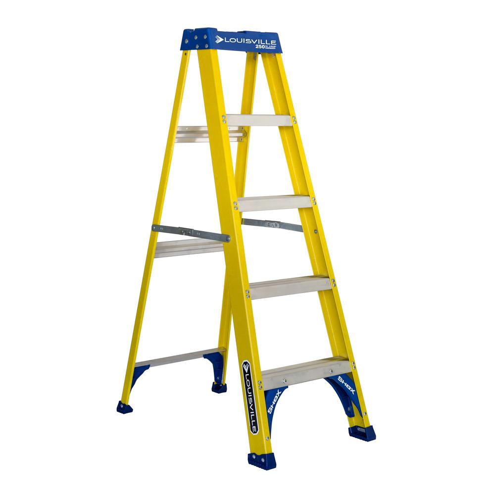 5 ft. Fiberglass Step Ladder with 250 lb. Load Capacity Type