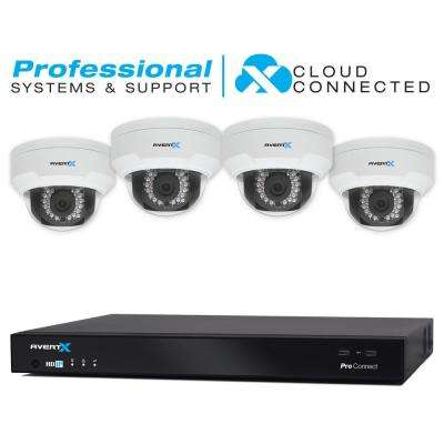 8-Channel 4TB Cloud Connected Surveillance System with (4) 4MP Dome Cameras