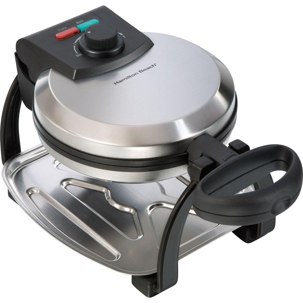 Hamilton Beach 7 in. Flip Belgian Waffle Maker - On and Ready Lights-DISCONTINUED