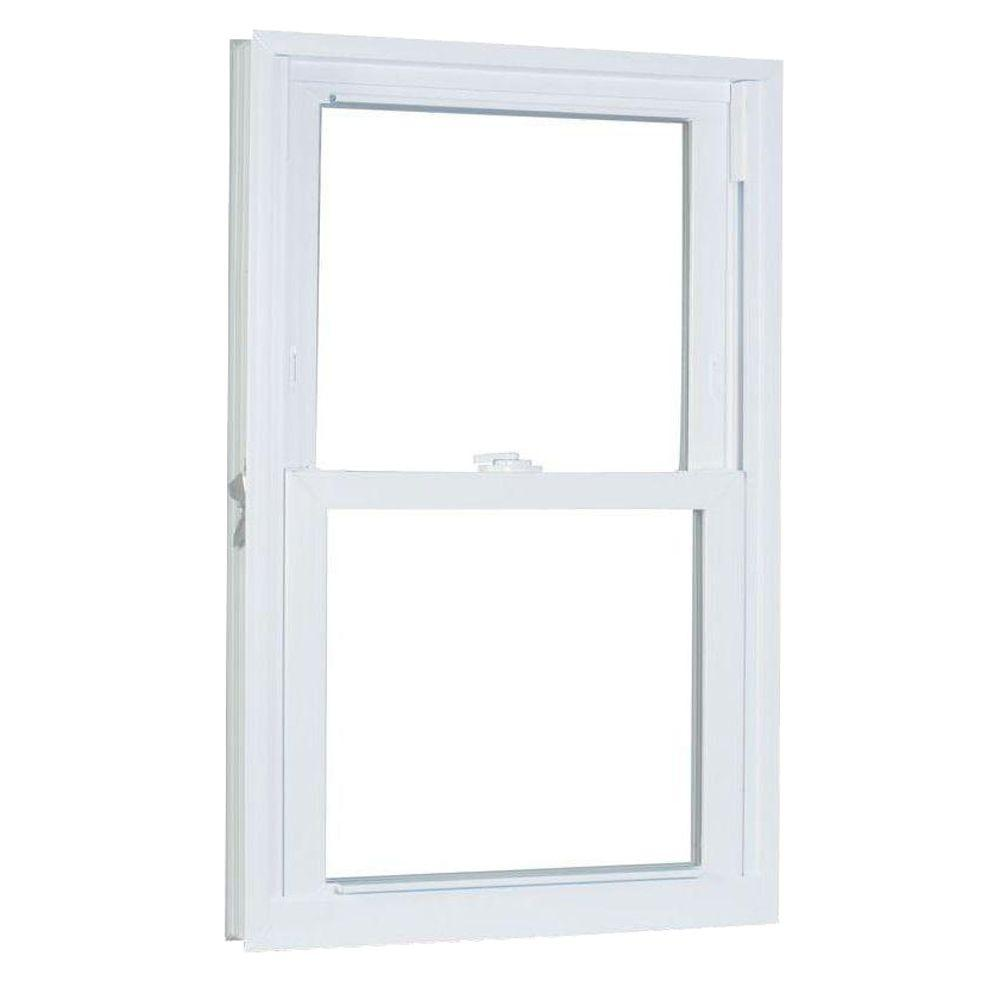 American Craftsman 35.75 in. x 53.25 in. 70 Series Double Hung Buck PRO LS Vinyl Window - White