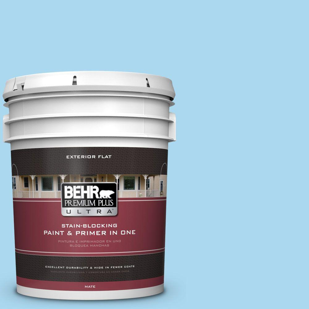 5-gal. #540A-3 Blue Feather Flat Exterior Paint