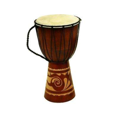 Toca Wood And Leather Brown Djembe Drum