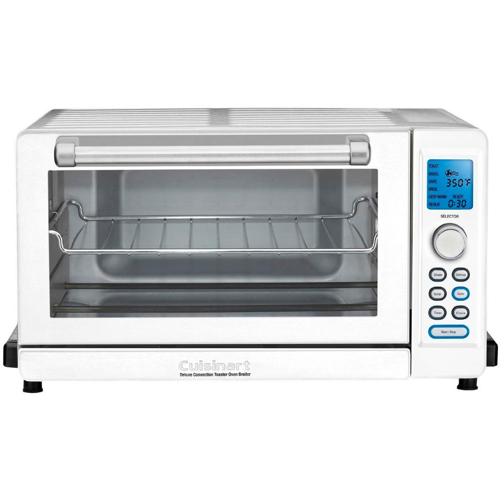 Cuisinart White Toaster Oven Broiler-TOB-135W - The Home Depot