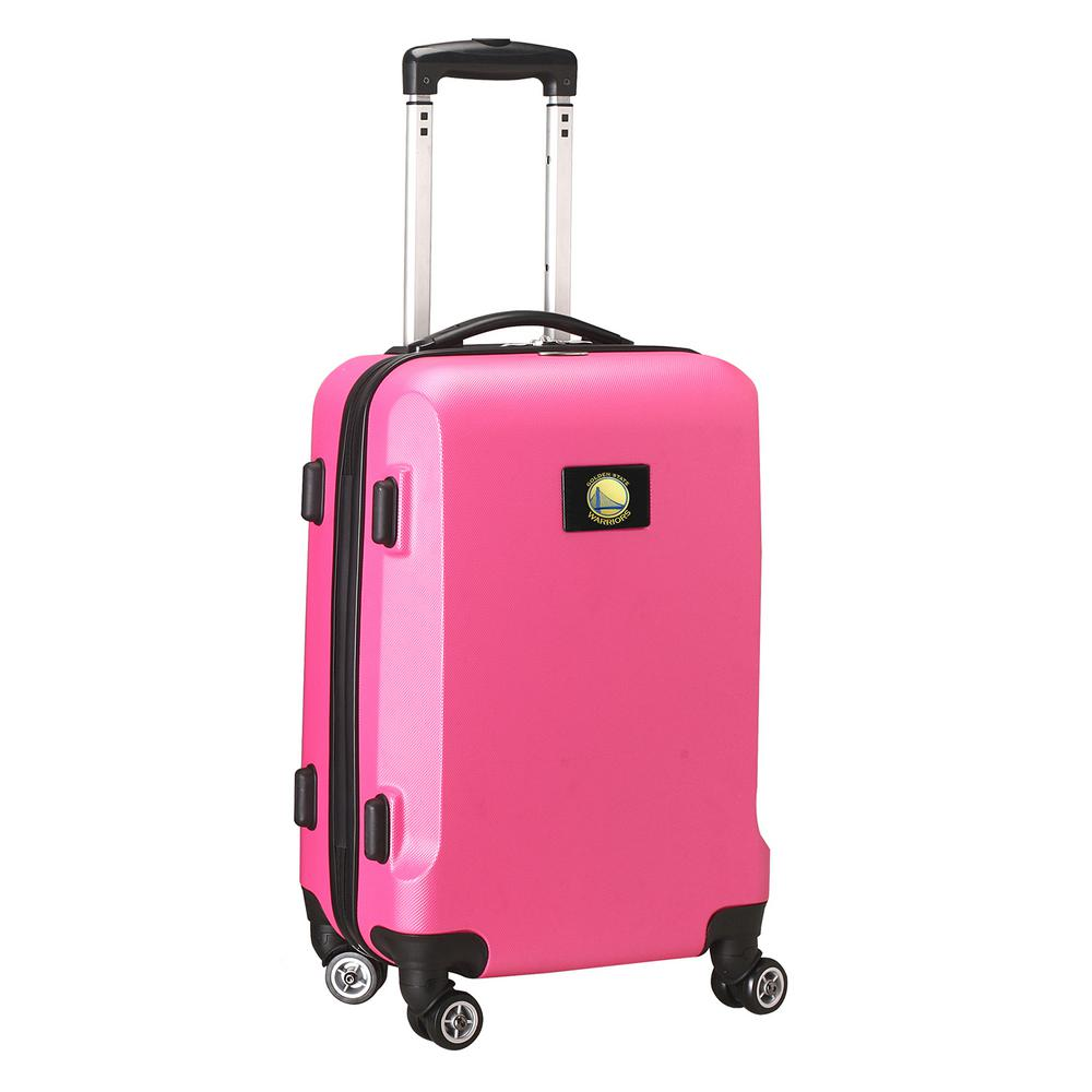 DENCO NBA Golden State Warriors Pink 21 in. Carry-On Hard...
