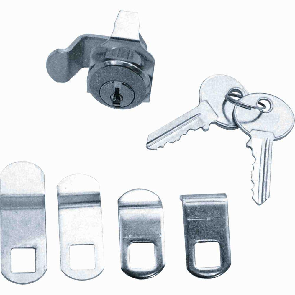 7/8 Outside Dimension Brushed Nickel 5 Cam Mailbox Lock