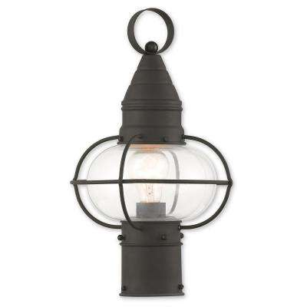 Newburyport 1-Light Outdoor Black Post Light