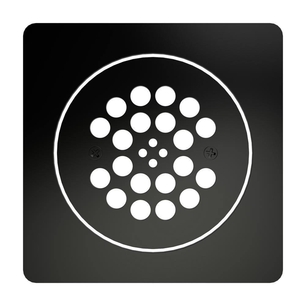 Redi Drain 5.75 in. x 5.75 in. 2-Piece Drain Plate Set in Matte Black