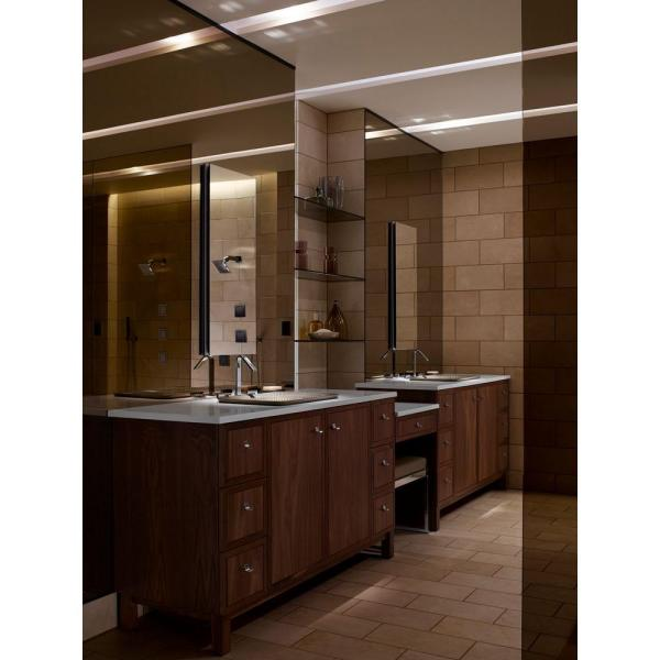 Kohler Catalan 15 In Recessed Or Surface Mount Medicine Cabinet In Satin Anodized Aluminum K 2938 Pg Saa The Home Depot