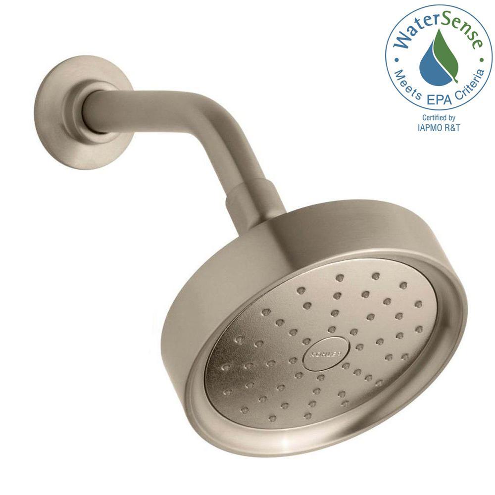 purist 1spray single function 55 in raincan showerhead with katalyst spray in vibrant