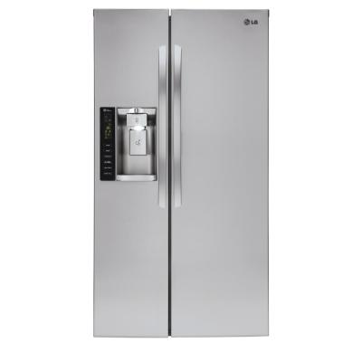 LG 21.9 cu. ft. Side by Side Smart Refrigerator with Wi-Fi Enabled in Stainless Steel, Counter Depth