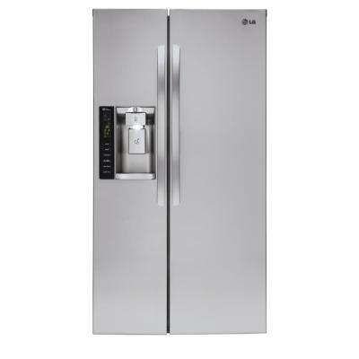 21.9 cu. ft. Side by Side Smart Refrigerator with Wi-Fi Enabled in Stainless Steel, Counter Depth