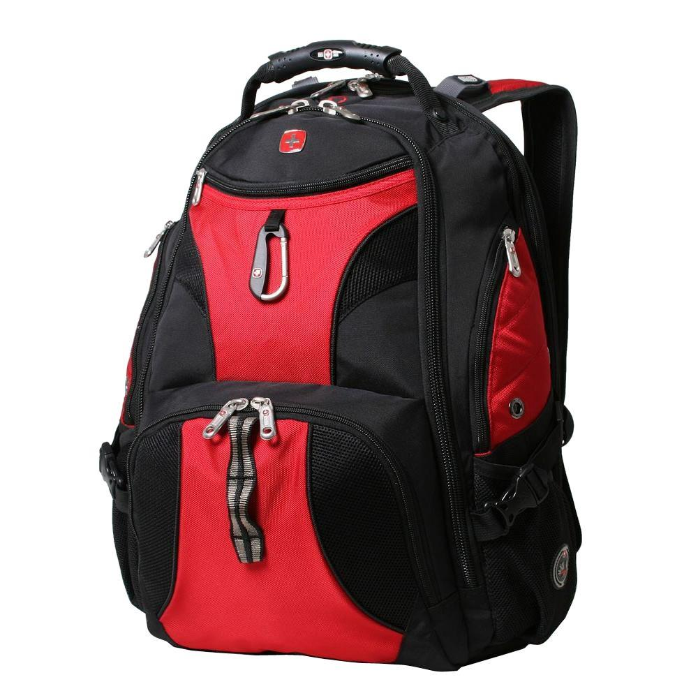 02c2b35345a SWISSGEAR Black and Red ScanSmart Backpack-19002115 - The Home Depot