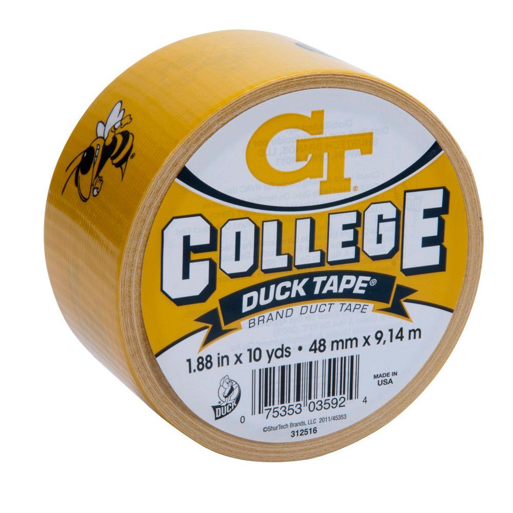 Duck College 1-7/8 in. x 30 ft. Georgia Tech Duct Tape (6-Pack)