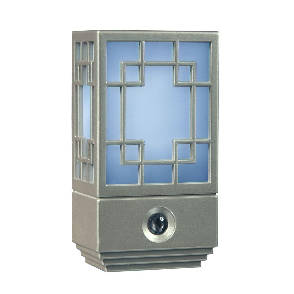 Amerelle Satin Nickel Steps Automatic LED Night Light