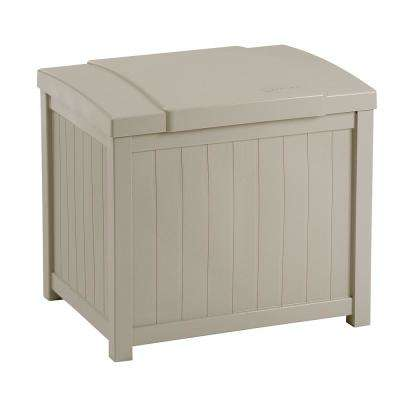 22 Gal. Taupe Small Storage Seat Deck Box