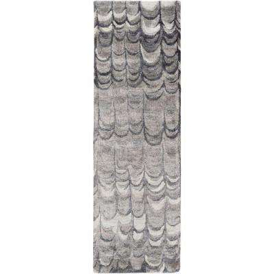 Olympos Charcoal 3 ft. x 8 ft. Indoor Runner Rug