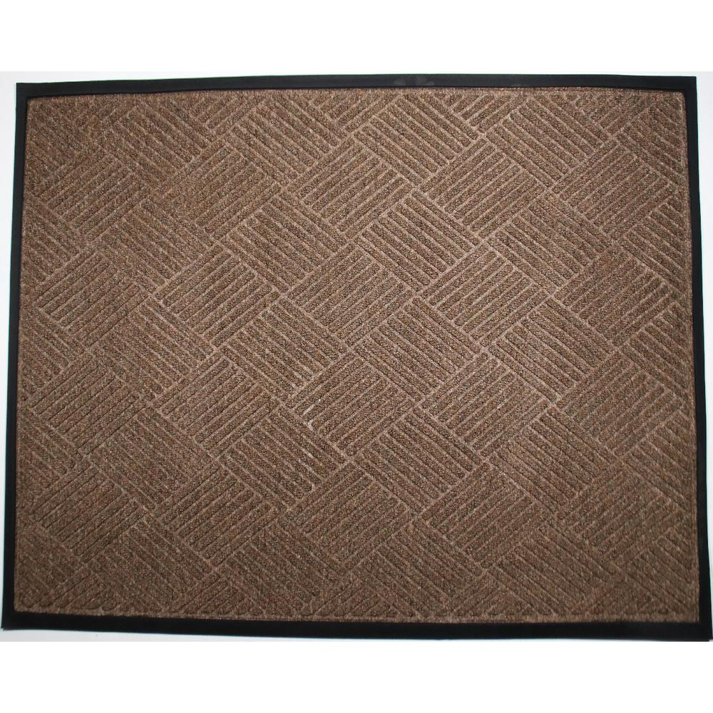 Opus 36 in. x 60 in. Brown Entrance Mat