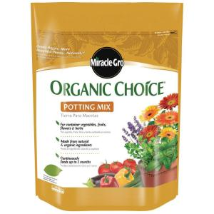 Miracle gro 8 qt organic choice potting mix 72978650 - Home depot miracle gro garden soil ...