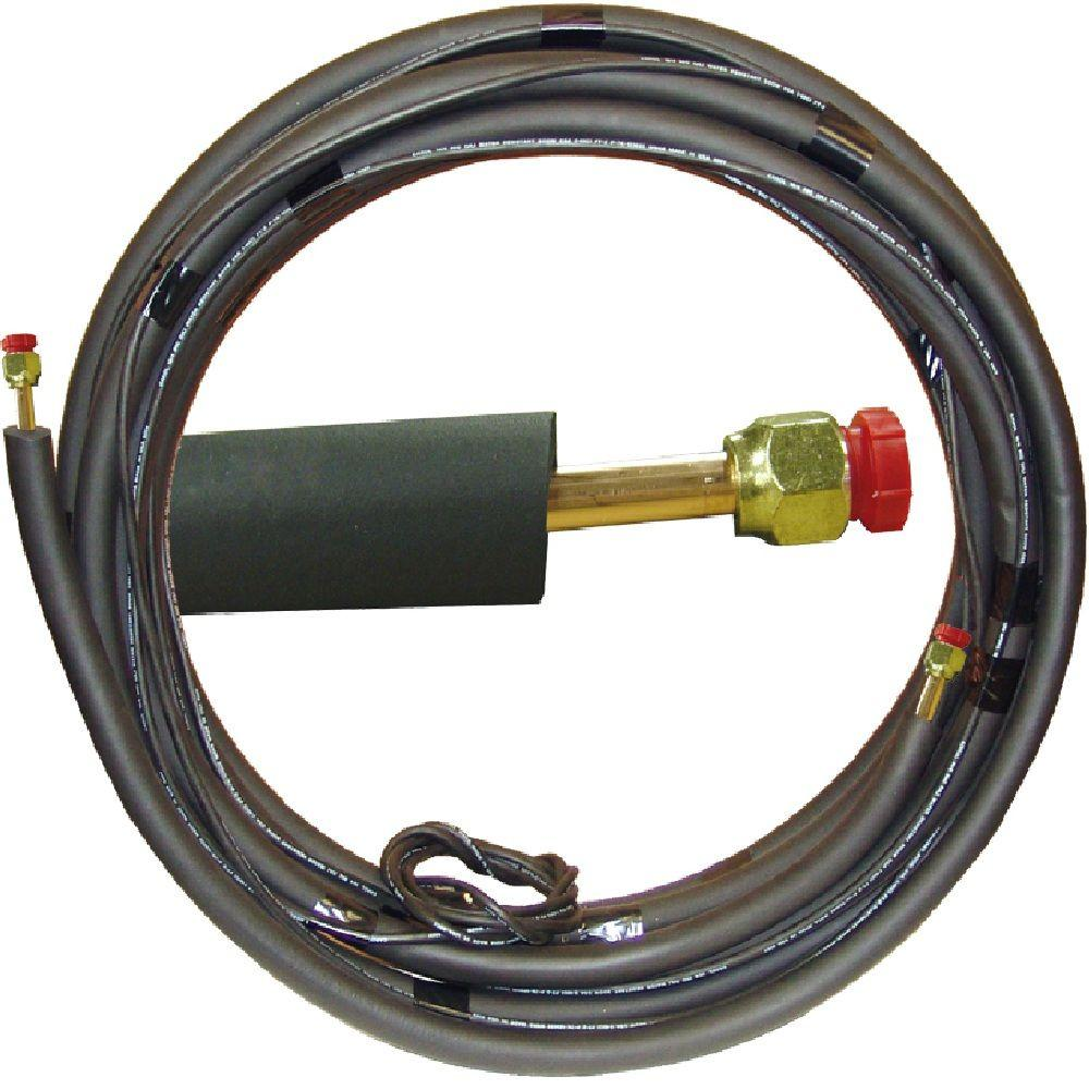 null 1/4 in. x 1/2 in. x 15 ft. Universal Piping Assembly for Ductless Mini-Split