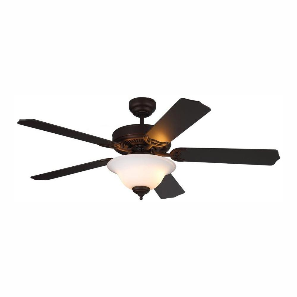Monte Carlo Homeowner II 52 in. Roman Bronze Ceiling Fan