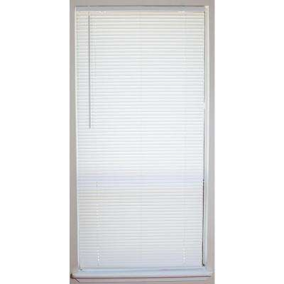 White 1 in. Light Filtering Vinyl Mini Blind - 58.5 in. W x 64 in. L (4-Pack)